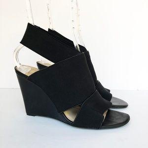 Vince Camuto | Xylia Black Elastic Wedge Sandal